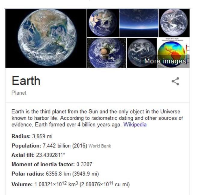 Google kennis paneel